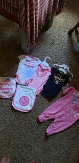 Nwt baby girls steeler clothes all for 40