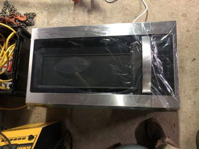 brand new over the range microwave