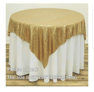 Gold sequins table cloth