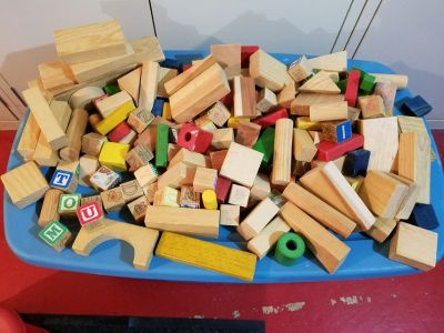 Children s Wooden Blocks Vintage
