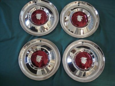 Purchase 1954 MERCURY RESTORED HUBCAPS - SET OF 4 motorcycle in Ojai, California, US, for US $299.00