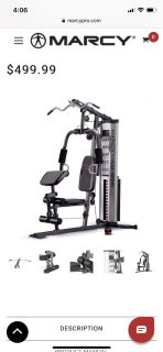 Marcy total home gym 150lb weight stack machine