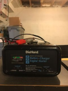 Battery charger fully automatic engine starter
