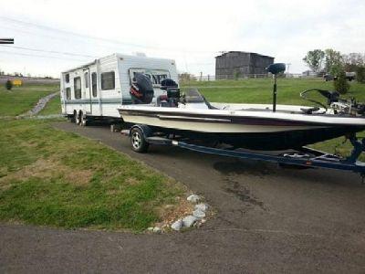 2004 Champion 198 Bass Boat Hull and Trailer