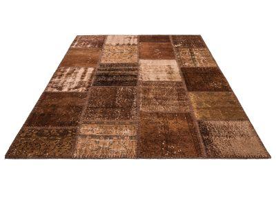 Brown Patchwork Rug,