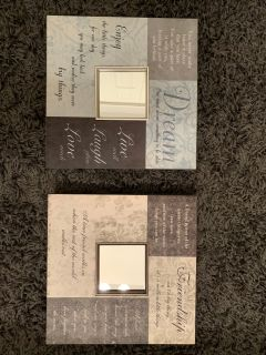 Lot of 2 12x12 quote mirrors