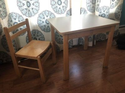 Kinderworks solid wood kids table and chair