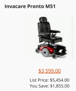 Electric Wheelchair (pronto m51)