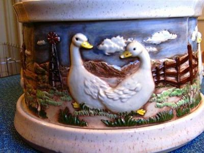 Rare Duck Geese Canister Set from 1985 Hershey Mold