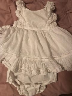 Baby Gap White Dress with bloomers Size 3-6 Months