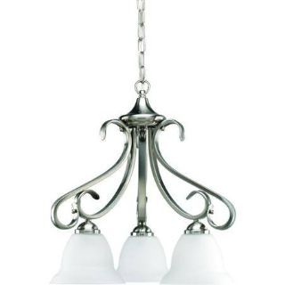 3-Light Brushed Nickel Chandelier