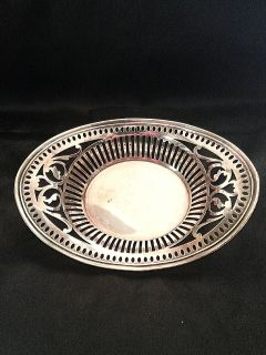 Antique Sterling Silver Nut Dish