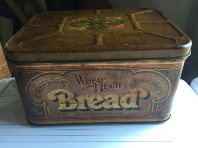 Antique Metal Bread Box.