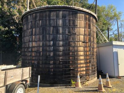 Redwood reclaimed water tank woud and tanks