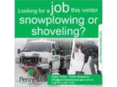 WANTED IMMEDIATELY Snow Shovelers for Pennellaandacirc;s Landscape Designs
