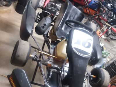 Corsa road racing kart with a kt100