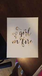 Girl On Fire Wall hanging
