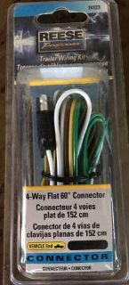 Find REESE 4 WAY FLAT 60 trailer WIRING HARNESS TOWING adapter BRAND NEW IN BOX motorcycle in Glendale, Arizona, United States, for US $5.09