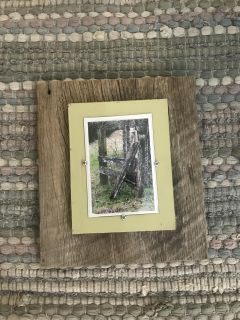Authentic barn wood picture frame