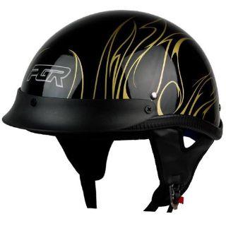 Buy L XL XXL ~ PGR B31 CONVICT BLACK GOLD Motorcycle DOT Half Helmet HD OC Sportster motorcycle in La Verne, California, US, for US $0.99