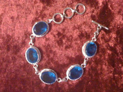 REDUCED!Silver bracelet and London blue topaz