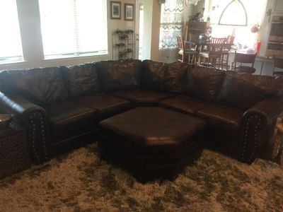 Large Leather Sectional Couch