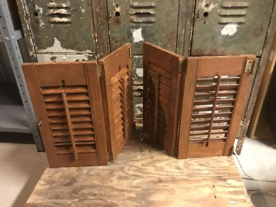 Old wood shutters. Dek/syc delivery