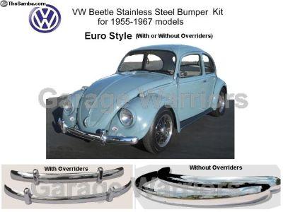 55-67 VW Beetle Stainless Steel Bumper Euro St