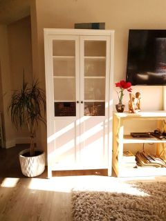 Display Cabinet / Bookcase White *Like New