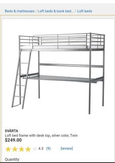 Like New IKEA Svarta Loft Bed