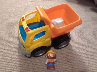 Little People Dump Truck and Construction Worker