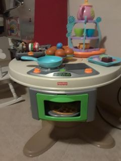 Fisher Price Table and food sets