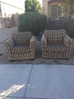 Set Of Two Oversized Chairs