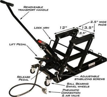 Purchase Rage Powersport Black Widow Air and Hydraulic Jack motorcycle in Tallmadge, Ohio, US, for US $145.97