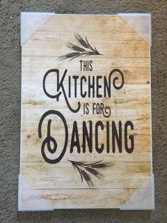 Kitchen is for Dancing Wall Decor
