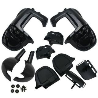 Find BLACK PEARL Lower Vented Leg Fairings Harley Touring Road King Glide FLHR FLHT motorcycle in Fremont, California, United States, for US $209.00