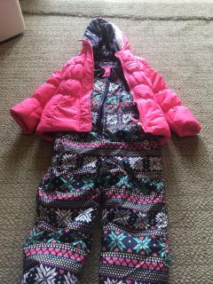 Pink platinum girls snowsuit.