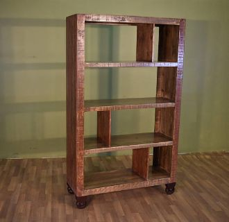 """Rustic Style Solid Wood 70"""" Tall Bookshelf with..."""