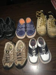 5 Pairs of Shoes for Toddler Boys-Preowned-All for $2.00