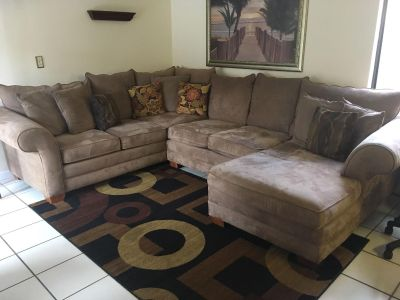 Sectional (pillows and area rug included)