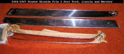 Find NOS 1965-67 Ford, Lincoln & Mercury 2 Door Sedan Rain Shades Stainless Steel motorcycle in Branchdale, Pennsylvania, US, for US $35.00
