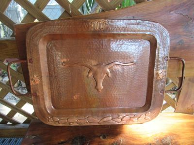 Lg. Copper Revere Hammered Tray