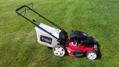 Toro lawn mower, 149cc, self propelled with bagger- Works great!