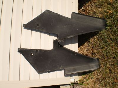 71 72 73 74 AMC AMX Javelin Original Black Rear Quarter Interior Sail PanelS