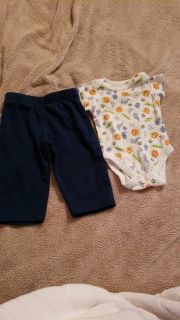 Garanimals size 0 to 3 month outfit.