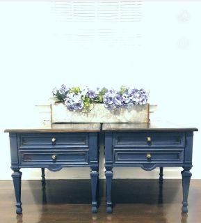 Beautiful Distressed Blue End Tables/Nightstand