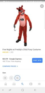 Five nights at freddy. Foxy costume.