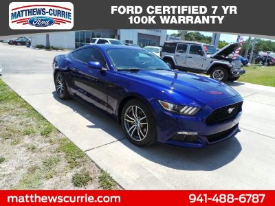 2016 Ford Mustang EcoBoost Premium (Deep Impact Blue Metallic)