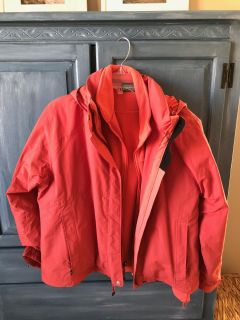 LL Bean 2 in 1 Jacket / Coral