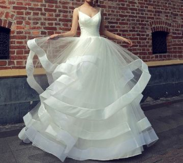 Natasha's Princess Tulle Lace Wedding Gown